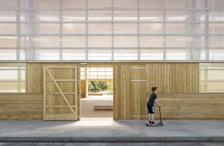 Photo of Gymnasium for street sports Vandkunsten Architects. Photo credit: Mads Frederik.