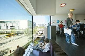 Photo of Ørestad School by KHR Architecture. Photo credit: Kontraframe