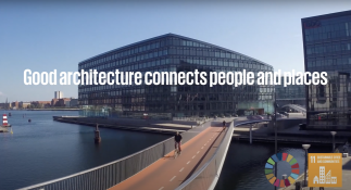 Video of architecture that connects people and places.
