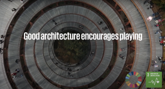 Video of architecture and playing.